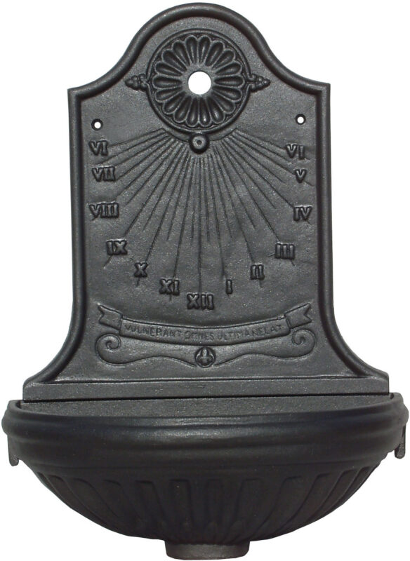 Fontana a muro modello Meridiana