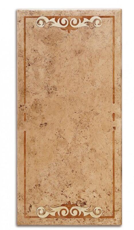 Piano in travertino intarsiato modello Rodi