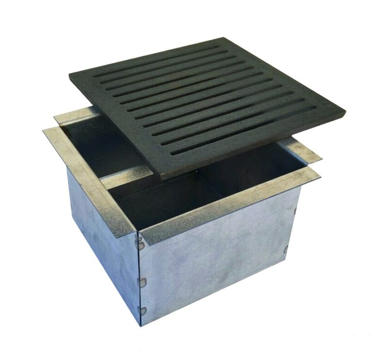 Cassetto per cenere + griglia in ghisa