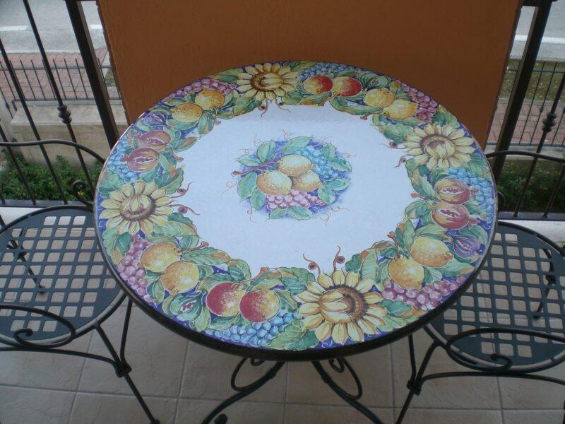 Piano per tavolo in pietra lavica modello Catania
