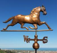 Segnavento Cavallo in rame