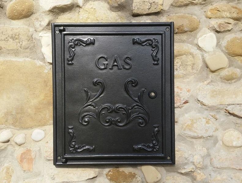 Sportello contatore gas in fusione d'alluminio