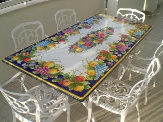 Piano per tavolo in pietra lavica modello Licata
