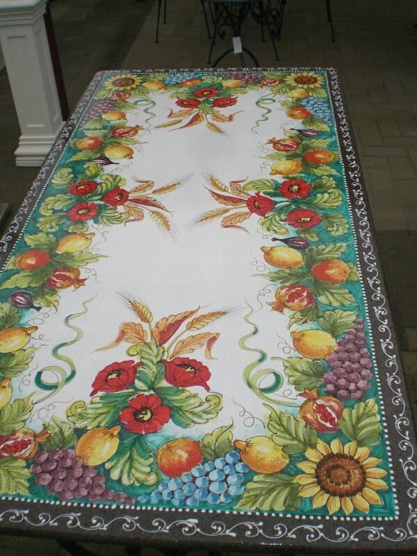 Piano per tavolo in pietra lavica modello Menfi