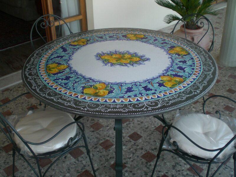 Piano per tavolo in pietra lavica modello Messina