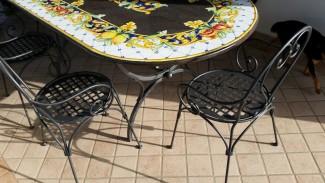 Piano per tavolo in pietra lavica modello Palermo
