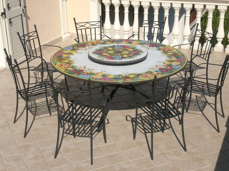 Piano per tavolo in pietra lavica modello Tindari