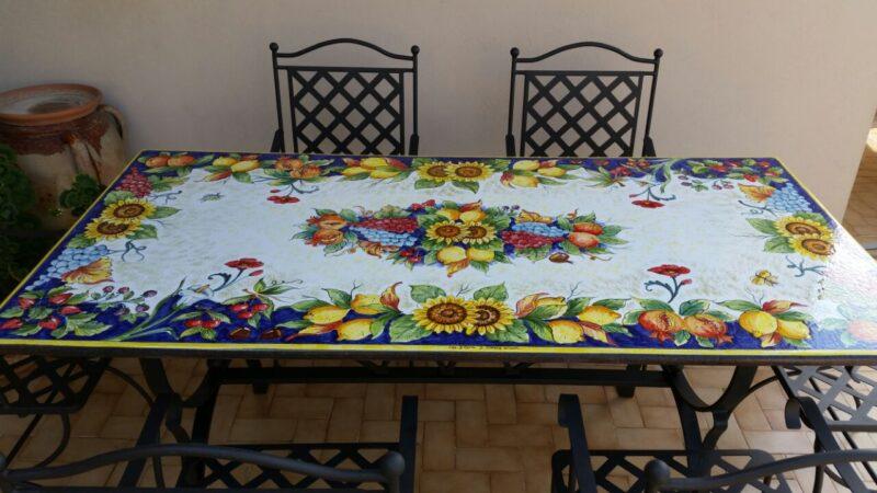 Piano per tavolo in pietra lavica modello Trapani