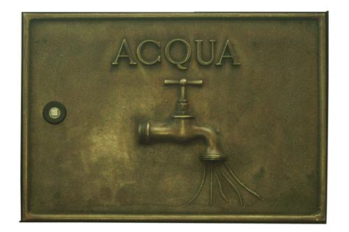 Sportello contatore acqua in ottone brunito