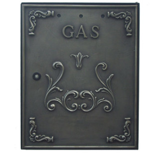 Sportello contatore gas in ottone brunito