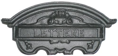 Feritoia per lettere in alluminio