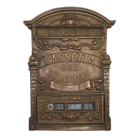 Cassetta postale per lettere in ottone brunito