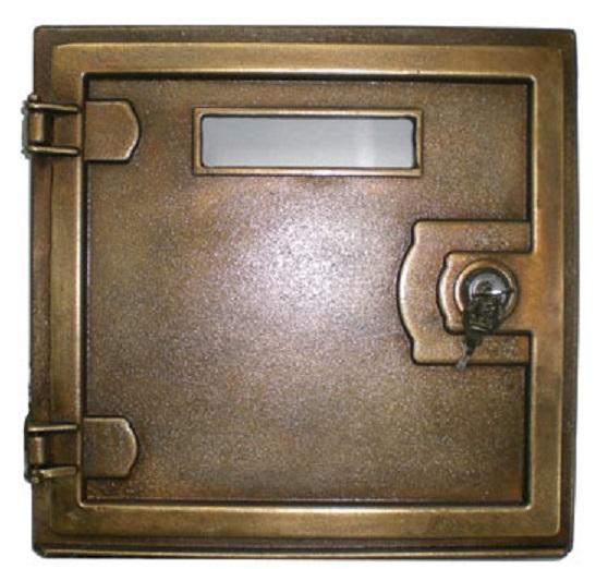 Sportello per posta e lettere in ottone con serratura
