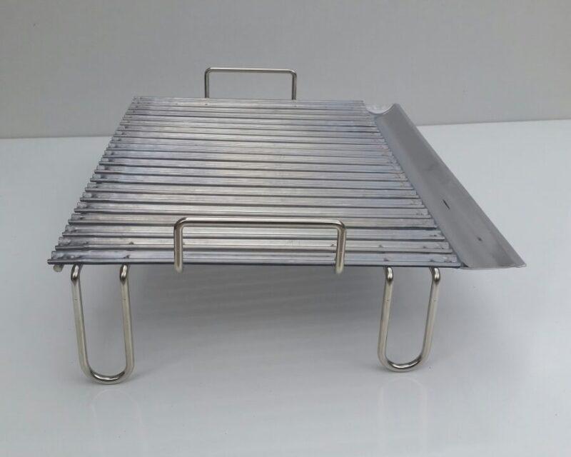 Graticola in acciaio inox per barbecue