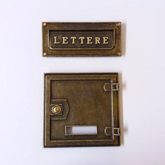 Sportello feritoia per posta e lettere in ottone