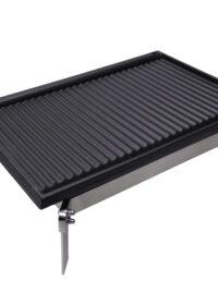 Fornello acciaio inox a gas e bistecchiera in ghisa cm 60×40