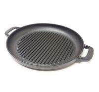Bistecchiera in ghisa padella piastra smaltata per alimenti diametro cm 39