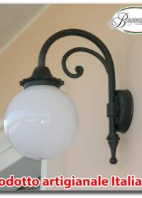 Braccio a muro modello Ischia20 in alluminio applique mensola lampione da giardino grigio ghisa