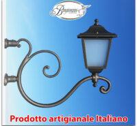 Braccio a muro modello Ponza in ferro battuto applique mensola lampione da giardino grigio ghisa
