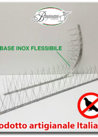 Dissuasore plurispillo inox flessibile piccioni uccelli volatili colombi 25 mt