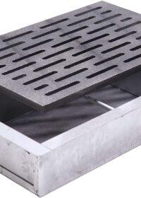 Kit griglia in ghisa 20×30 cod. M per camino + cassetto raccogli cenere h 7 cm