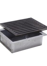 Kit griglia in ghisa 19,5×23,5 cod. L per camino + cassetto raccogli cenere h 7 cm