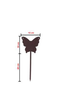 Farfalla Piccola in ferro zincato