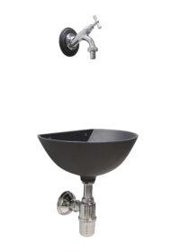 "Fontana ""D"" 600 + rubinetto 303C e sifone"