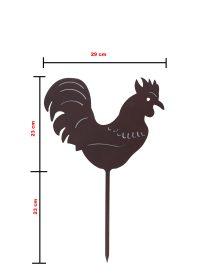 Gallo in ferro verniciato