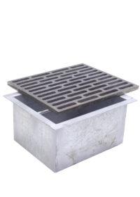 Griglia in ghisa 25×30 per camino con cassetto raccogli cenere