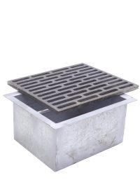 Kit griglia in ghisa 25×30 cod. M per camino + cassetto raccogli cenere h 14 cm